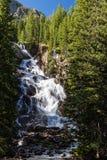 Κρυμμένες πτώσεις στο μεγάλο εθνικό πάρκο Teton, Ουαϊόμινγκ, ΗΠΑ Στοκ Εικόνες