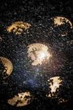 Κρυμμένος χρυσός bitcoin Στοκ Εικόνες