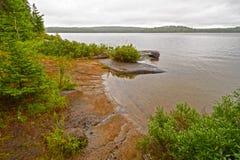 Κρυμμένος όρμος σε μια λίμνη αγριοτήτων Στοκ εικόνες με δικαίωμα ελεύθερης χρήσης