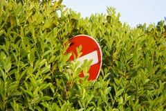 Κρυμμένο δεν εισάγει το σημάδι Στοκ φωτογραφία με δικαίωμα ελεύθερης χρήσης
