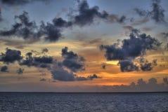 Κρυμμένο ηλιοβασίλεμα Στοκ Εικόνα