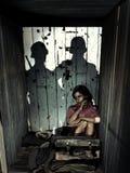 Κρυμμένο παιδί στοκ εικόνες με δικαίωμα ελεύθερης χρήσης