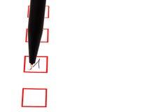 Κρότωνας στο κιβώτιο κόκκινων τετραγώνων Στοκ εικόνες με δικαίωμα ελεύθερης χρήσης