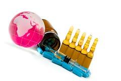 κρύα έγχυση γρίπης Στοκ εικόνες με δικαίωμα ελεύθερης χρήσης