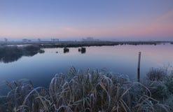 Κρύα ανατολή στοκ φωτογραφίες