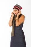 Κρύα ινδική γυναίκα Στοκ φωτογραφία με δικαίωμα ελεύθερης χρήσης