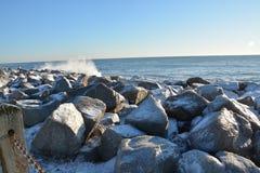 Κρύα κύματα στη βόρεια Καρολίνα Στοκ φωτογραφία με δικαίωμα ελεύθερης χρήσης