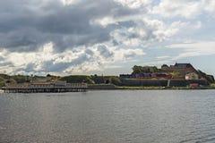Κρύα λουτρά και οχυρό Varbergs Στοκ Εικόνες