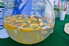 Κρύα σπιτική λεμονάδα Στοκ Φωτογραφίες