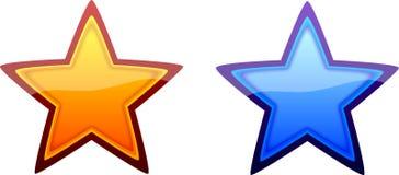 κρύα στιλπνά καυτά αστέρια Στοκ εικόνα με δικαίωμα ελεύθερης χρήσης