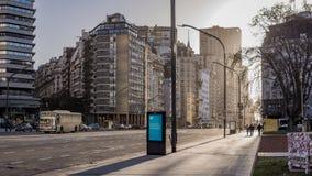 Κρύα χειμερινή οδός στο Μπουένος Άιρες Στοκ Εικόνες