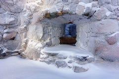 Κρύοι τοίχοι στο θερμό φως Στοκ Εικόνες