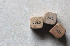 Κρύος και καυτός Στοκ Φωτογραφίες