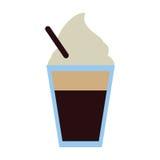κρύος καφές φλυτζανιών γυαλιού φρέσκος Στοκ φωτογραφίες με δικαίωμα ελεύθερης χρήσης