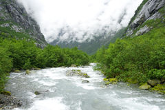 κρύος ποταμός σύννεφων Στοκ φωτογραφία με δικαίωμα ελεύθερης χρήσης