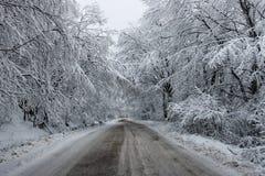 Κρύος δρόμος Στοκ Φωτογραφίες