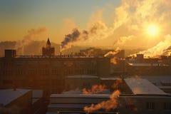 κρύος χειμώνας πρωινού Στοκ εικόνα με δικαίωμα ελεύθερης χρήσης