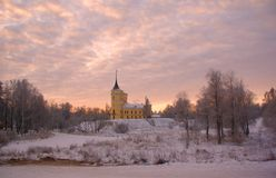 κρύος χειμώνας πρωινού Στοκ Εικόνες