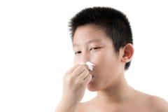 Κρύο γρίπης ή σύμπτωμα αλλεργίας Στοκ φωτογραφία με δικαίωμα ελεύθερης χρήσης