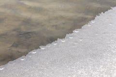 Κρύο λευκό χειμερινού χιονιού πάγου νερού Στοκ εικόνες με δικαίωμα ελεύθερης χρήσης