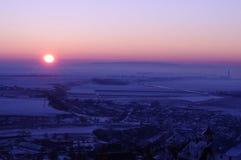 Κρύο ηλιοβασίλεμα Στοκ Εικόνες