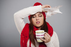 Κρύο και γρίπη Στοκ Εικόνα