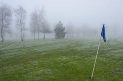 Κρύο και παγωμένο γήπεδο του γκολφ Στοκ Εικόνες