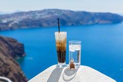 Κρύο κοκτέιλ με τον καφέ και το νερό Στοκ εικόνα με δικαίωμα ελεύθερης χρήσης