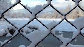 Κρύο πίσω από τα κάγκελα Στοκ Φωτογραφία