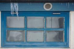 κρύο παράθυρο Στοκ εικόνες με δικαίωμα ελεύθερης χρήσης