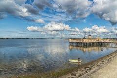 Κρύο σπίτι λουτρών Varberg Στοκ εικόνες με δικαίωμα ελεύθερης χρήσης