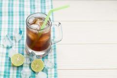 Κρύο τσάι πάγου με το λεμόνι Στοκ Εικόνες