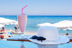 Κρύο milkshake Ελλάδα Στοκ Εικόνες