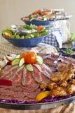 κρύο platter κρέατος στοκ εικόνες