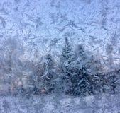 Κρύσταλλα πάγου στο παράθυρο στοκ εικόνες με δικαίωμα ελεύθερης χρήσης