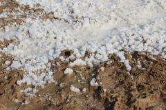 Κρύσταλλα που αναμιγνύονται αλατισμένα με τη λάσπη Στοκ Εικόνα