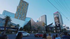 Κρύσταλλα που χτίζουν στη λεωφόρο του Λας Βέγκας - ΗΠΑ 2017 απόθεμα βίντεο