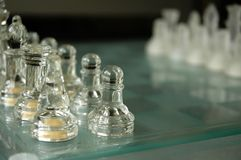 κρύσταλλο σκακιού Στοκ εικόνα με δικαίωμα ελεύθερης χρήσης