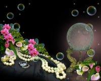 κρύσταλλο σφαιρών ανασκόπ διανυσματική απεικόνιση
