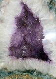 κρύσταλλο geode Στοκ Εικόνες