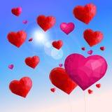 Κρύσταλλα αγάπης στον ουρανό Στοκ Φωτογραφίες