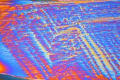 Κρύσταλλα νιτρικών αλάτων έρβιου κάτω από το μικροσκόπιο Στοκ Φωτογραφίες
