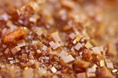 Κρύσταλλα Vanadinite Μακροεντολή Ακραία κινηματογράφηση σε πρώτο πλάνο Στοκ Φωτογραφία