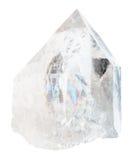 Κρύσταλλο βράχου που απομονώνεται στο λευκό Στοκ Εικόνες