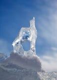 Κρύσταλλο επιπλέοντος πάγου πάγου πέρα από χειμερινό Baikal τη λίμνη Στοκ Εικόνες