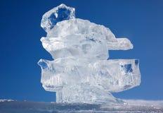 Κρύσταλλο επιπλέοντος πάγου πάγου πέρα από χειμερινό Baikal τη λίμνη Στοκ εικόνα με δικαίωμα ελεύθερης χρήσης