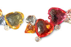 Κρύσταλλο καρδιών Στοκ Εικόνες