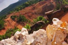 Κρύσταλλο στο ορυχείο Ron Coleman Στοκ φωτογραφία με δικαίωμα ελεύθερης χρήσης