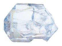 Κρύσταλλο του βράχου celestine που απομονώνεται Στοκ Εικόνες