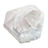 Κρύσταλλο χαλαζία βράχου που απομονώνεται στο λευκό Στοκ Εικόνες
